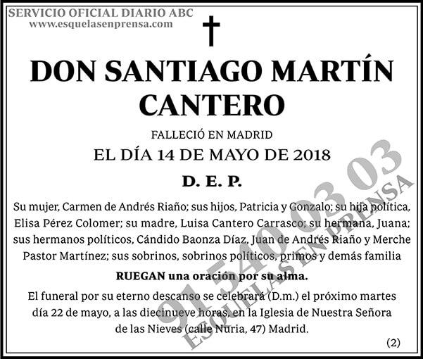 Santiago Martín Cantero